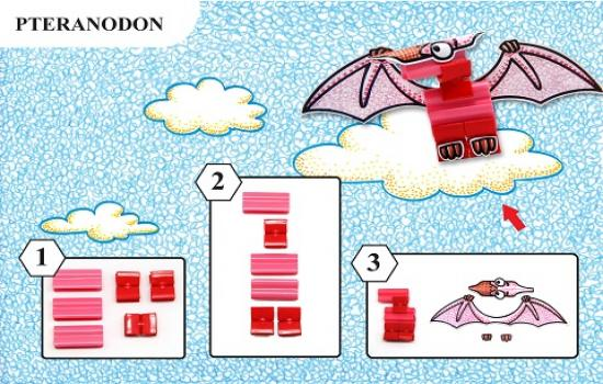 Step by step how to make Pteranodon
